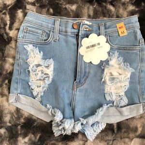 Pants - Women's denim high rise shorts